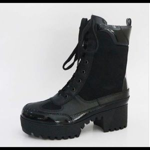 Shoes - Black Combat Boot | MAKE A OFFER